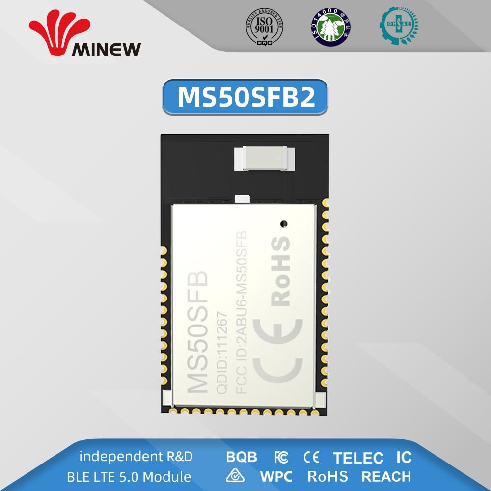 NRF52832 2.4GHz Transceiver Wireless Rf Module Minew MS50SFB 2.4 Ghz Ble 5.0 Receiver Transmitter Bluetooth Module