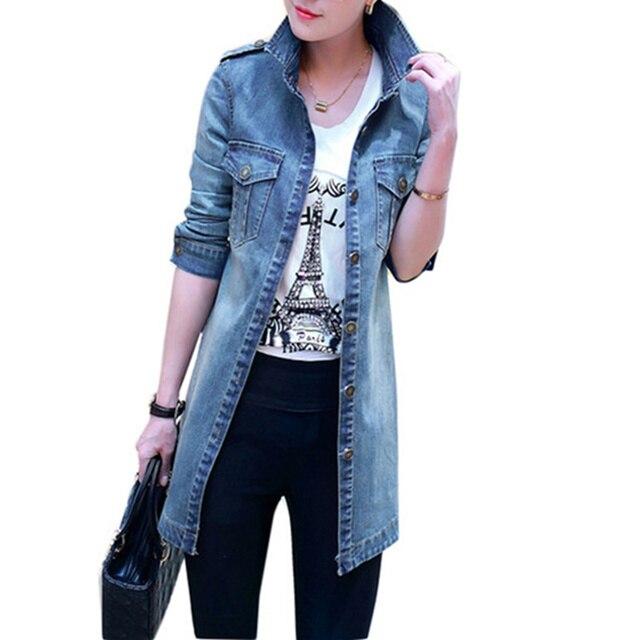 2018 new Women Denim Jacket Casual Self -Cultivation Denim Jacket Long -Sleeved Women 'S Fashion Large Size Women 'S Jacket
