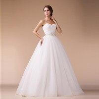 Cheap Wedding Dresses 2016 new Korean version was thin thick winter wedding Bra straps Qi tutu A simple word pendulum diamond