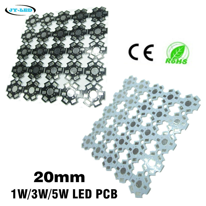 1W 3W 5W LED Lamp PCB Board, 20mm LED Aluminum Base plate for high power LED Beads maitech 1w 3w 5w led energy saving lamp beads aluminum plate silver black 10 pcs
