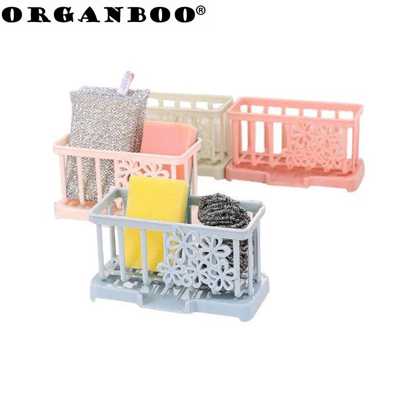 Organboo 1 шт. Кухня аксессуары для хранения поставляет пластиковые дренажные Таблица половую тряпку стойку губки держатель Организатор