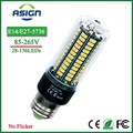 LED Corn Bulb 5736 SMD E27 E14 Bulb Real Watt  3.5W 5W 7W 8W 12W 15W LED Corn Light 85V-265V Constant Current 28-156LEDs Lamp