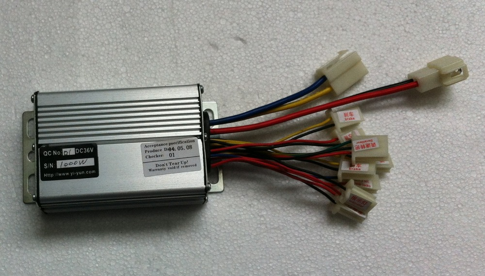 цена на 1000W DC 36V brush motor speed controller, speed control, electric bicycle controller