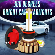 2X G7 LED Car Headlight Bulbs Automobiles 9005 9006 IP68 Waterproof H4 H7 H11 8000LM 6000K Brighness Car Lamp(China)