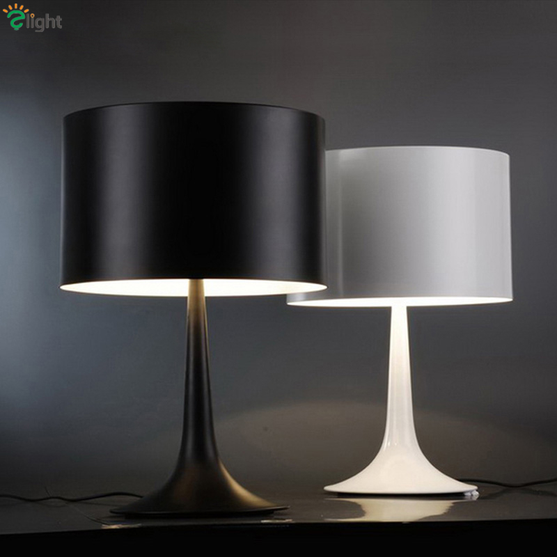 Nordic Minimalism Italy Design Black/White Gentle Desk Lamp Modern Plated Metal Simple Led Table Lamp For Bedroom Study Room