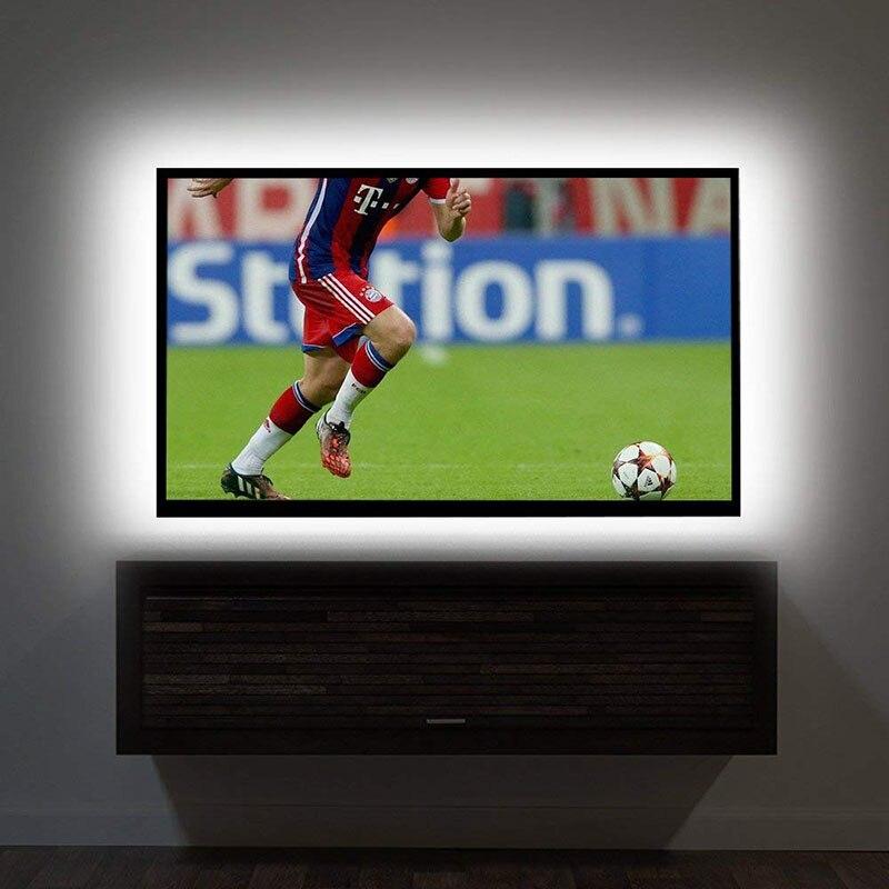 LED Strip light TV USB Power DC 5V 6V 2835 3528 SMD TV Desktop PC Screen Backlight Bias lighting 1M 2M 3M 4M 5M NOT Waterproof in LED Strips from Lights Lighting