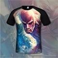 3d ataque contra titanes de algodón lycra de impresión camiseta de los hombres cómodo anime camisetas jugador casual clothing flexib manga corta camisa
