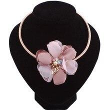 2017 Large Lace Flower Statement Necklace Women Boho Maxi Pendant Necklace Choker Collar Jewelry Christmas Gift nc