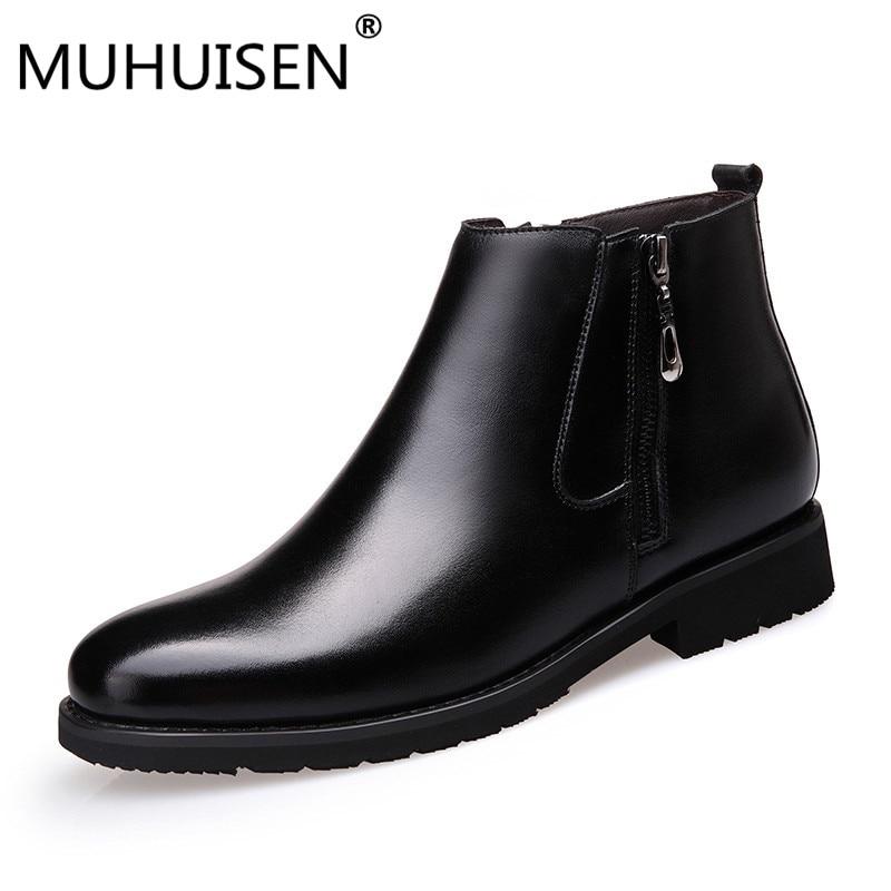 15dac41d Купить YEERFA новые качественные мужские зимние ботинки, зимние ботинки для  мужчин, натуральная кожа, шерсть внутри, Теплая мужская обувь с мехом и пл.