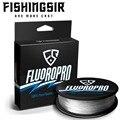 FISHINGSIR FluoroPro 100% Pure Fluorocarbon Coated Fishing Line 300M Clear Fluorocarbon Fishing Line Carbon Fiber Leader Line