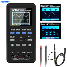 Hantek 3in1 디지털 오실로스코프 + 파형 발생기 + 멀티 미터 휴대용 USB 2 채널 40mhz 70mhz LCD 디스플레이 테스트 미터 도구