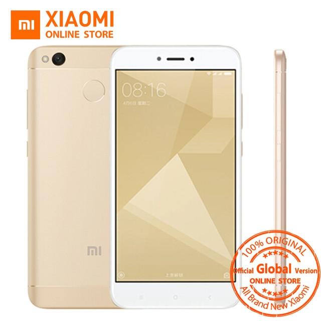 Глобальная версия Оригинальный Xiaomi Redmi 4X смартфон 3 ГБ Оперативная память 32 ГБ Snapdragon 435 Octa core Процессор 13MP Камера MIUI8.2 4100 мАч