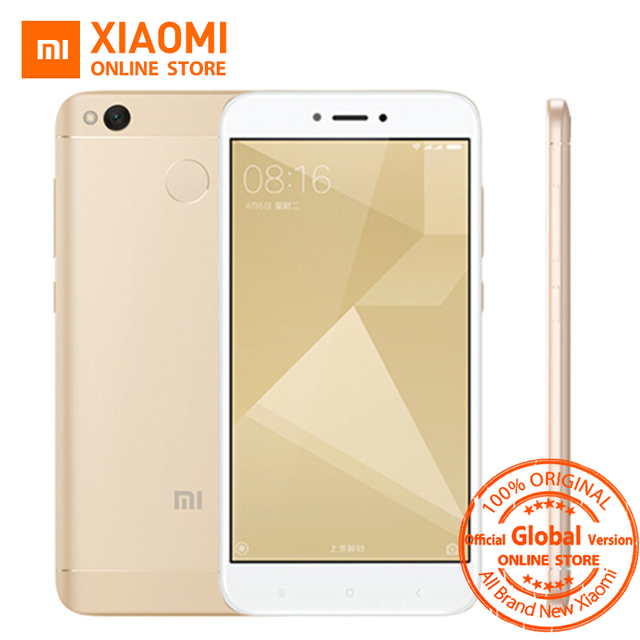 Глобальная версия Оригинальный Xiaomi Redmi 4x смартфон 3 ГБ Оперативная память 32 ГБ Snapdragon 435 Octa core Процессор 13MP Камера MIUI 9 4100 мАч