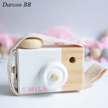 Fashion Baby Wood Camera Toys Children Boys Girls Outdoor Toys Safe And Natural Toys Birthday Christmas Gift(China)