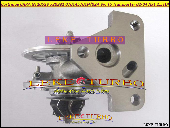 Turbo Cartridge CHRA GT2052V 720931 720931-0004 720931-0002 070145702A Turbocharger For VW T5 Transporter 2002-04 AXE 2.5L TDI  цены
