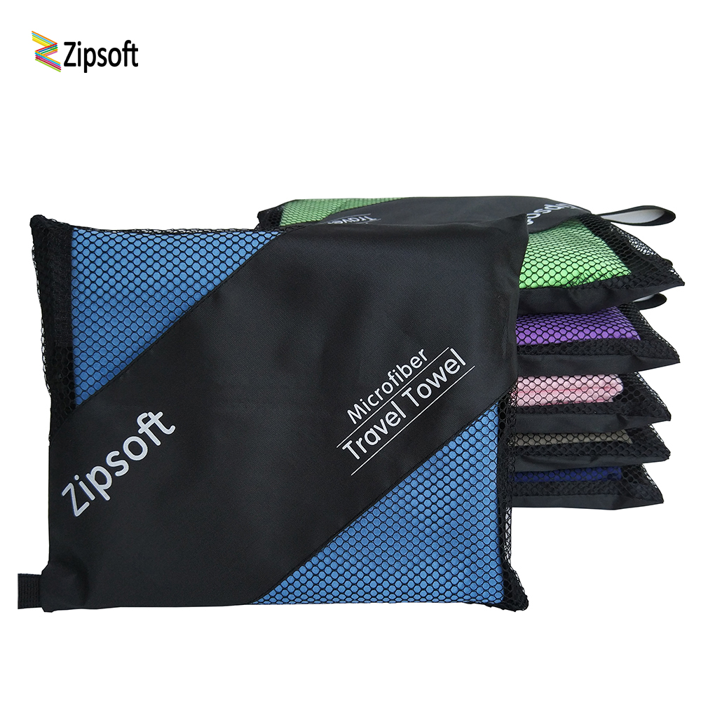 Zipsoft Beach towels for Adult Microfiber Square Fabric Quick drying Travel Sports towel Blanket Bath Swimming Pool Camping 2018