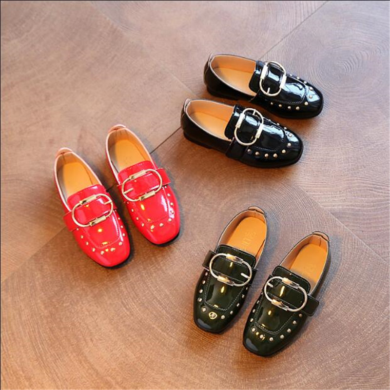 2018 Spring Quality Toddler Casual Leather Shoes For Girls Princess Children Flats Shoes Kids Boys Fashion Loafer School Shoes