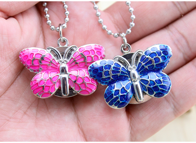 Brand New Fashion Butterfly Pocket Pendant Necklace Chain Quartz Dress Watch Y48