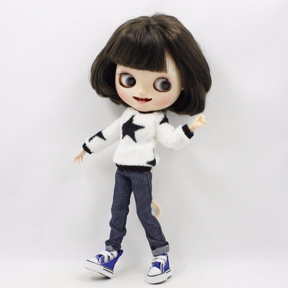 Neo Blythe Doll Plush Clothes Jeans Suit 2