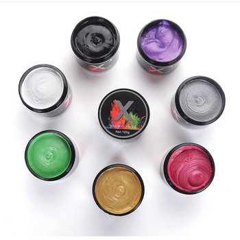 Hair color wax dye one-time molding paste seven colors available BLUE Burgundy grandma gray green hair dye wax