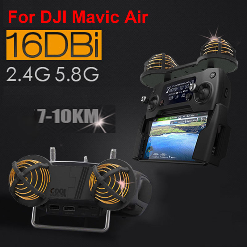 For DJI Mavic Air Antenna WiFi Signal Range Booster Extender 16DBI 2 4 5 8GHz Circular