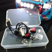 LED light up kit para a Série 42077 e 20077 O Carro de Rally de lego Technic tijolo Set (conjunto do carro não incluído  conter apenas luz)|Iluminação Novelty| |  -