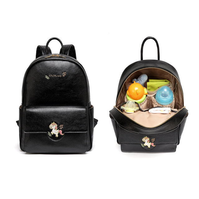 Land Baby Changing Mom Mummy Maternity Ny Diaper Dag Backpack Fashion Pu Leather