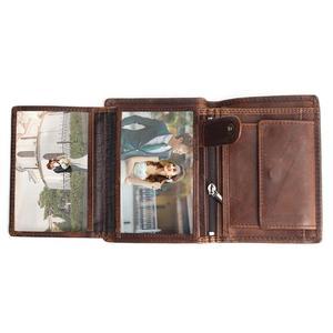 Image 3 - Vintage designer 100% genuíno carteiras masculinas couro dos homens curto carteira bolsa titular do cartão moeda bolso masculino carteiras