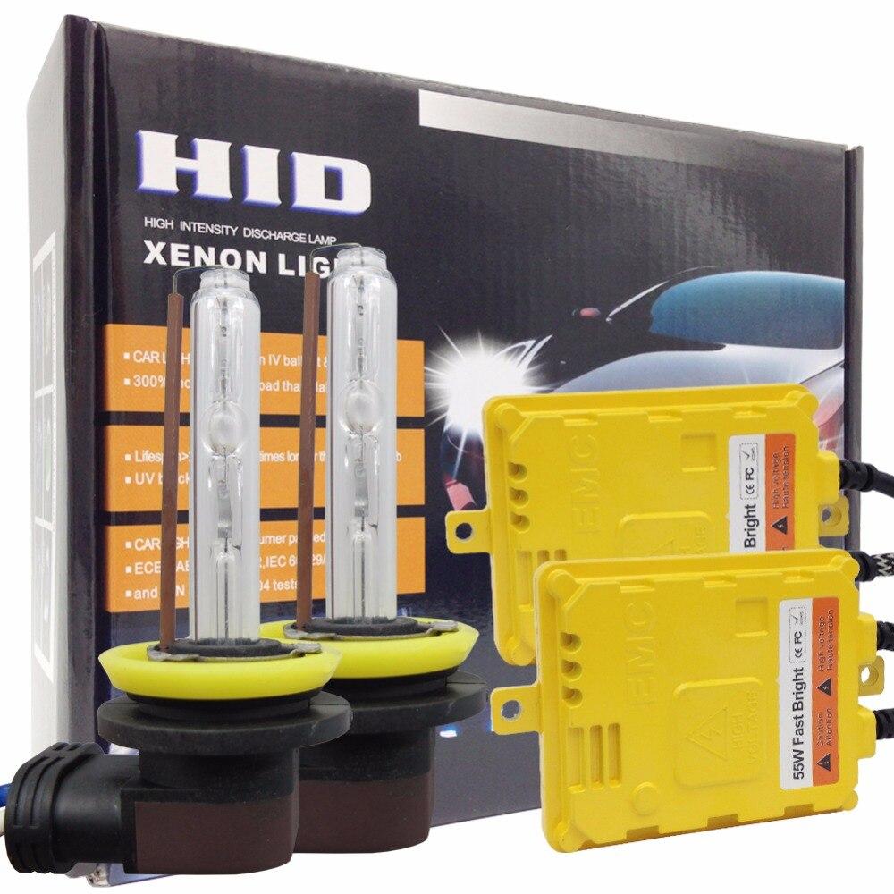 Taochis 12В переменного тока 55ВТ HID H11 Ксеноновые лампы Н1 Н3 заменить головной свет комплекты быстрого яркое H7 9005 9006 с балластом комплект противотуманных фар