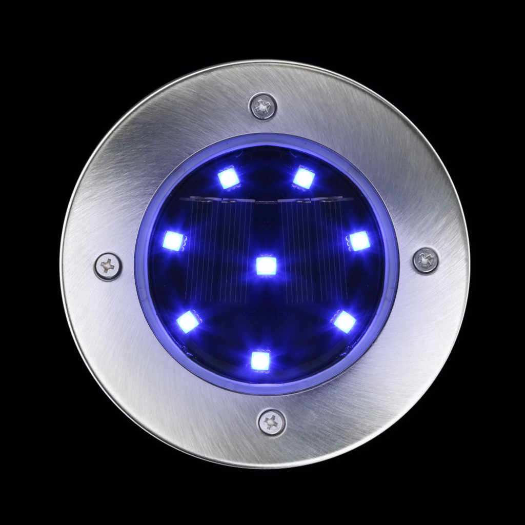 Водонепроницаемый Солнечный грунтовый светильник садовая дорожка настенная лампа с 8 светодиодами Солнечная лампа для дома подъездная дорога газон Road-W517