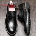 Italian Shoes Men Temperament Mens Shoes Cowhide Brogue Shoes Men Soft Leather Cutwork Tan Thin Solid Color Designer