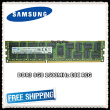 Samsung memoria de servidor DDR3 16GB, 8GB, GB 1600MHz ECC REG DDR3 PC3-12800R registro RAM DIMM 12800 8G 2RX4 X58 X79