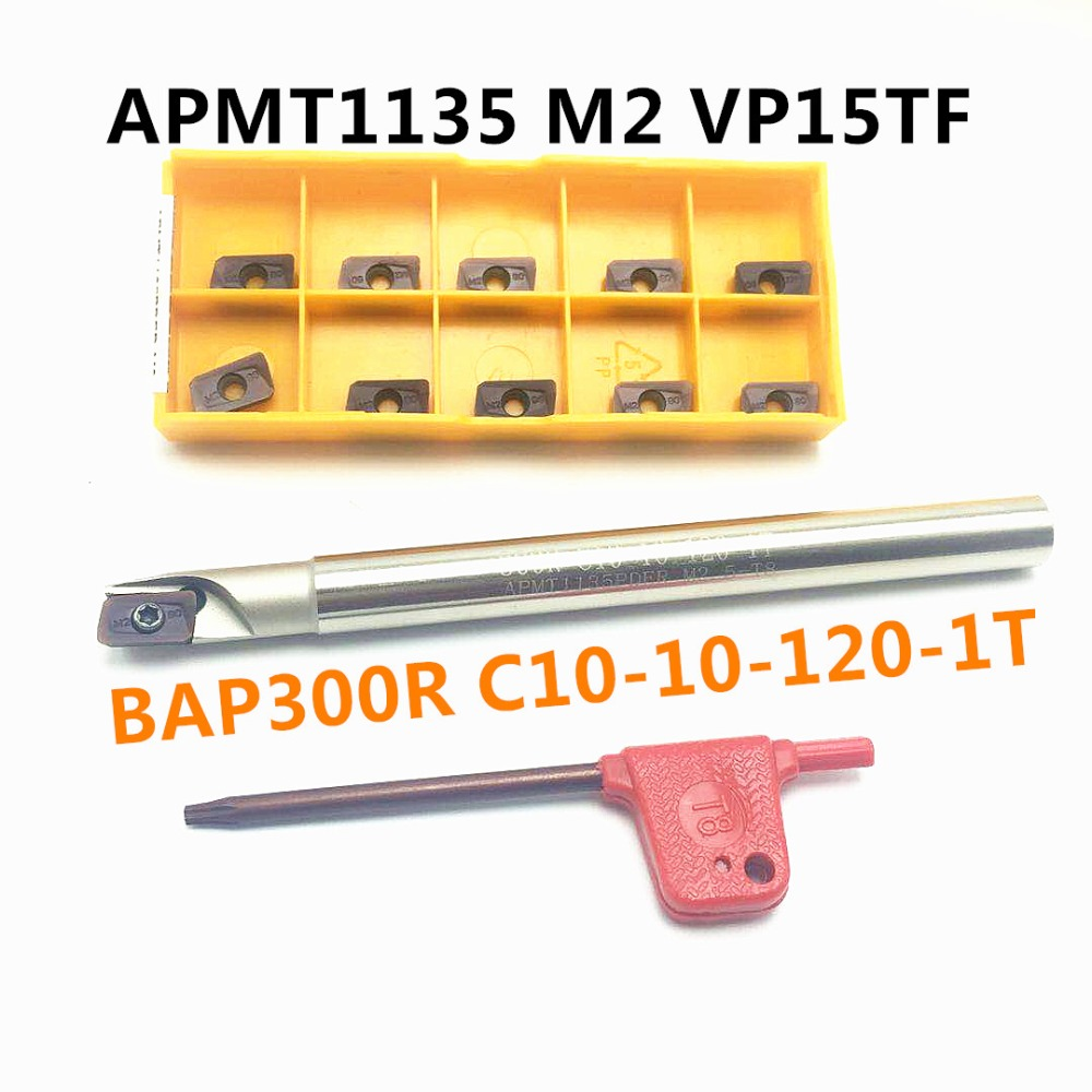 BAP300R C10-10-120 Milling Cutter Tool Holder+10PCS APMT1135 PDER inserts Machine Lathe CNC tool holder metal 1 flute цена 2017
