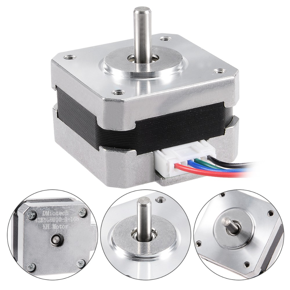 UXCELL Hot 42 Step Bipolar 4.4V 0.4A 2 Phase Stepper Motor 26mm 4 Leads for 3D Printer CNC Laser Stage Light Control DIY Hobby