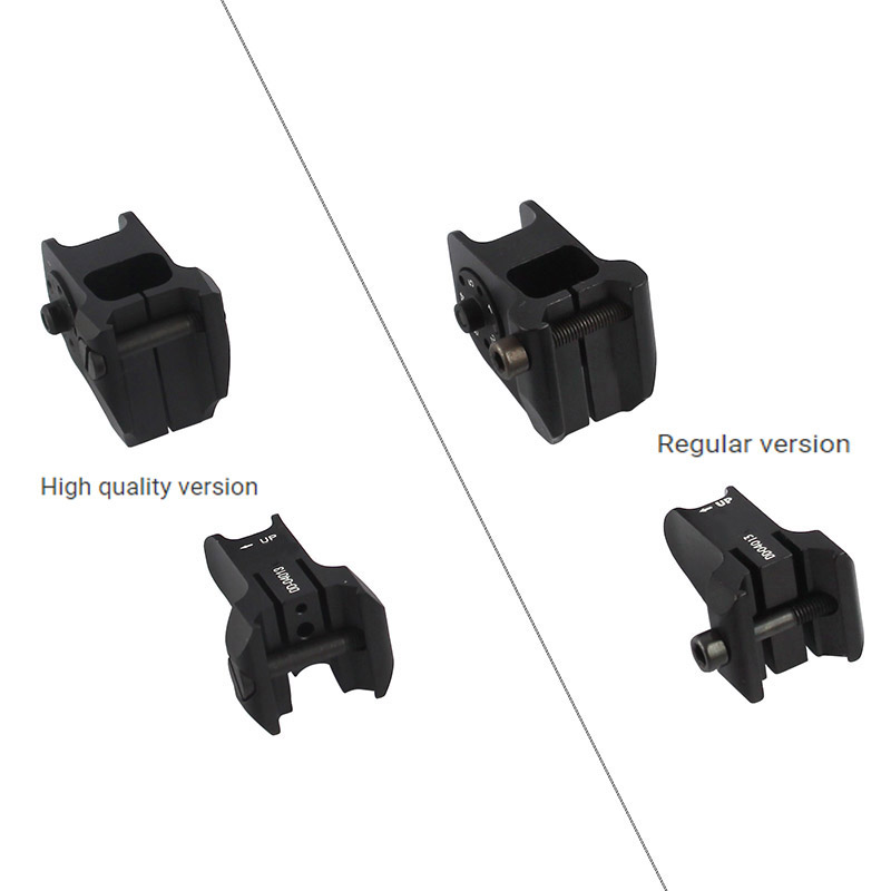 Image 4 - Tactical Fixed Front & Rear Sight Streamline Design Standard AR15 Apertures Iron Sights BK Hunting accessoriesrear sightiron sightsaperture sights -