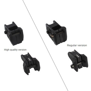 Image 4 - Tactical Fixed Front & Rear Sight Streamline Design Standard AR15 Apertures Iron Sights BK Hunting accessories