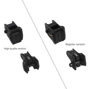 Image 4 - Taktik sabit ön ve arka Sight düzene tasarım standart AR15 delikli demir manzaraları BK avcılık aksesuarları