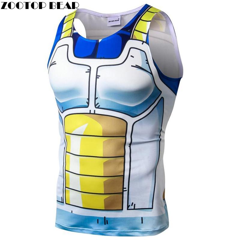 The Dragon Ball Tank Top Men Women Vest Singlet Top&Tee Dragon Ball Z Super Saiyan Bodybuilding Summer ZOOTOP BEAR