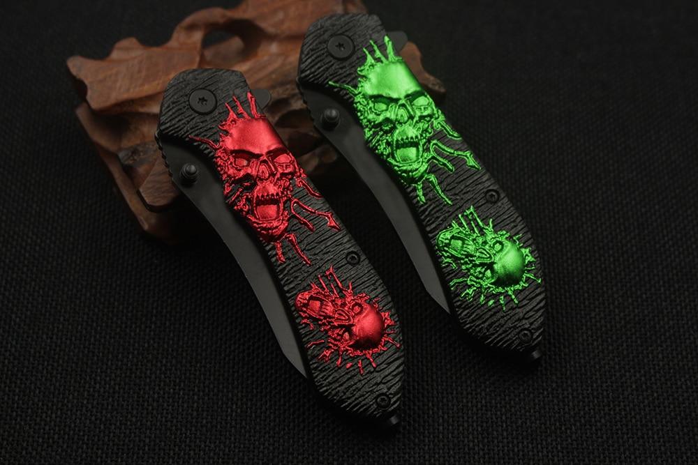 Moda czaszki taktyczny składany nóż ostry kamea uchwyt nóż - Narzędzia ręczne - Zdjęcie 6