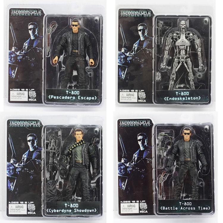 4pcs/set Terminator 4 Style T-800 ENDOSKELETON Cyberdyne Showdown Action Figure Collectible Toy kisswawa free shipping neca the terminator 2 action figure t 800 cyberdyne showdown pvc figure toy 7 18cm ds 10321