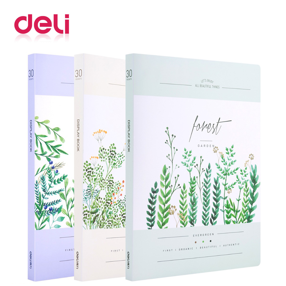 Deli 30 sheets A4 file folder PP material document protector file holder filling products durable office/school kawaii fileDeli 30 sheets A4 file folder PP material document protector file holder filling products durable office/school kawaii file