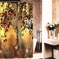 Halloween Christmas 3D Printed Polyester Fabric Waterproof Bathroom Shower Curtain Halloween Party Decoration New Hot Sale