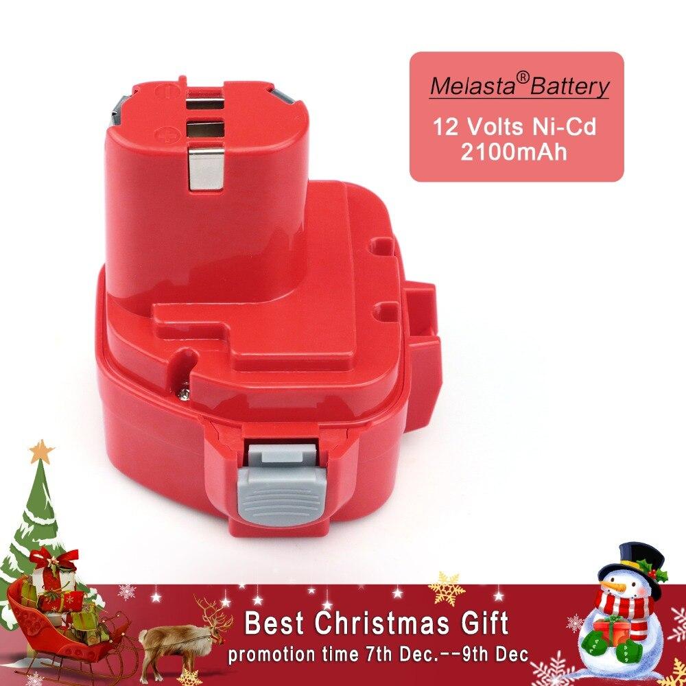 MELASTA 12 v NiCd 2100 mah Batterie Ersatz Batterie für Makita 1220 PA12 1222 1233 s 1233SA 1233SB 1235 1235A 1235B 192598-2