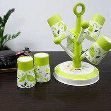 Multi-function candy color tree style cup rack storage with 6 cups  31*20cm free shipping