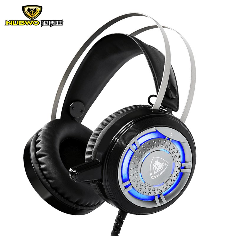 NUBWO N1 Gaming Headphones Foldable LED Light Deep Bass Stereo Surrounded Headband Gaming Headsets With Microphone For PC Gamer picun c3 rose gold headphones with microphone for girls ps4 gaming headsets for apple iphone se galaxy s8 s7 a5 sony leeco asus