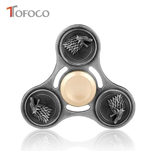 TOFOCO Game of Thrones House Stark Metal Fidget Spinner