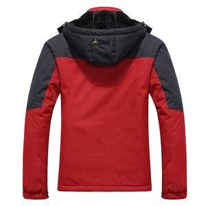 Image 5 - YIHUAHOO Winter Jacket Men 5XL 6XL Thick Warm Parka Coat Waterproof Mountain Jacket Pockets Hooded Fleece Windbreaker Jacket Men