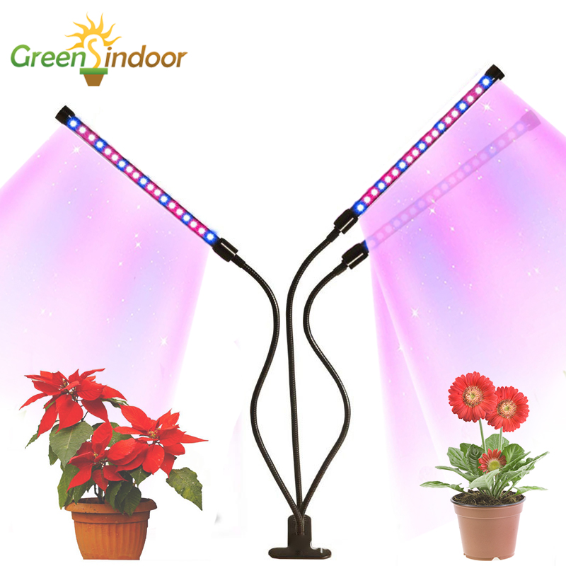 Lamp For Plants 9/18/27W LED Grow Light Full Spectrum Fitolampy Phyto Lamp Blue Red Led Growth Lamp For Indoor Seedlings Flowers