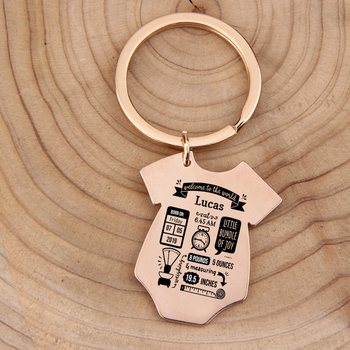 Gift Key Chain New Born Baby Souvenir Jewelry Baby Siamese shape First Mother's Father's day Gift Couple Anniversary Charm 5
