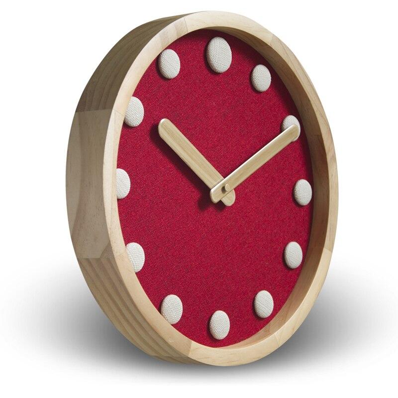 12 pouces en bois maison muet salon chambre horloge murale Simple ronde moderne calme décoration suspendue montre